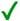 green checkmark